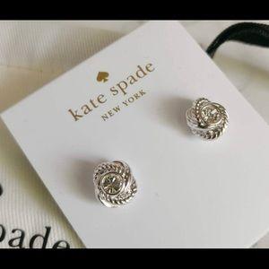 Kate Spade silver knot earrings